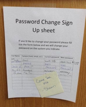 password change sign up sheet