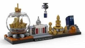 lego Architecture Doctor Who skyline set moc