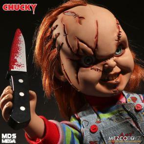 Bride of Chucky – Scarred Chucky Mezco Designer Series Mega Scale Talking Figure