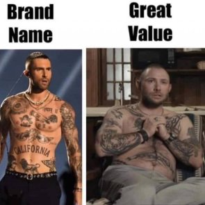 brand name  great value