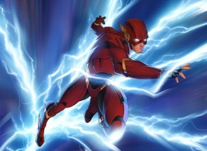 the flash is in blue