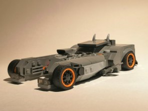 "lego version of batmobile from ""Batman White Knight"""
