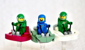 Three Happy Space-Figs