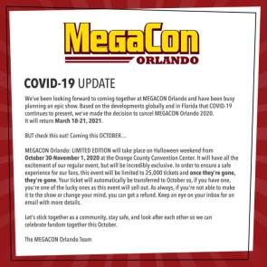 MegaCon Convention Canceled