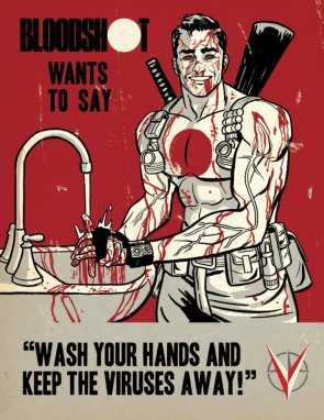 Bloodshot want do say wash your damn hands