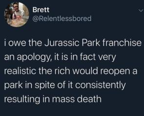 I owe Jurassic Park