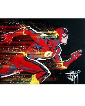 The Flash DC Comics Original Comic Art Painting By FRANCIS MANAPUL    eBay