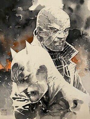 BATMAN HUSH DC Comics Original Art Watercolor By Jim Lee   eBay