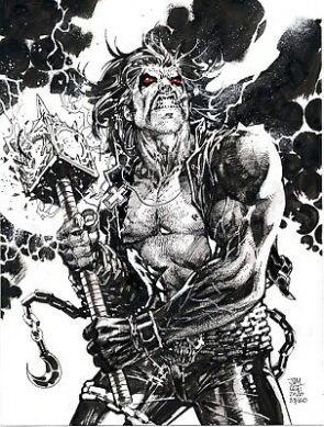 LOBO DC Comics Original Art Sketch Jim Lee Krypton Omega Men    eBay
