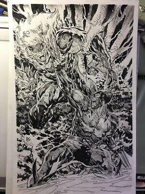 Wolverine Vs Sabretooth Marvel Comics Original Sketch Art By KEN LASHLEY   eBay