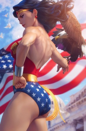 wonder woman and eagle by art germ