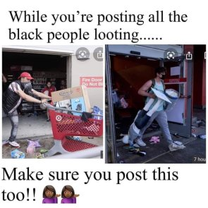 White People Looted Too