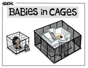 BABIES IN CAGES