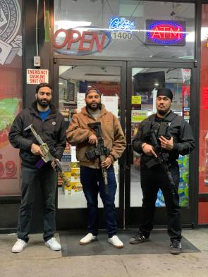 Americans protecting their store This was on rpics but the image is deleted and mods aren't allowing reposts