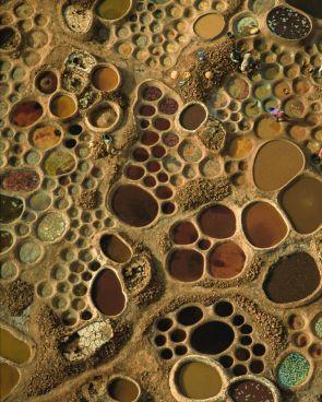 A mosaic of salt pools