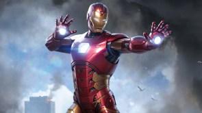 iron man has a pose