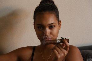Noelle Monique smoking