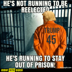 HE'S RUNNING TO STAY OUT OF PRISON