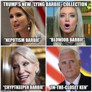 "NEW ""LYING BARBIE"" COLLECTION"