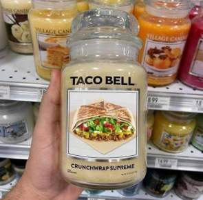 Taco Bell Candle