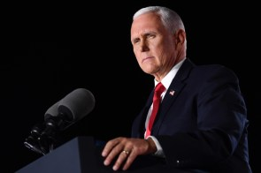 Mike Pence Spouts Copaganda in Convention Speech Promises to Hold the 'Thin Blue Line'