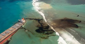 Photos A Growing Oil Spill Off the Coast of Mauritius