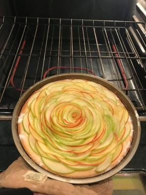 Homemade Apple tart before baking
