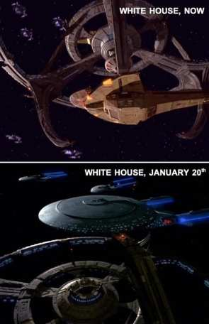 white house now and tomorrow