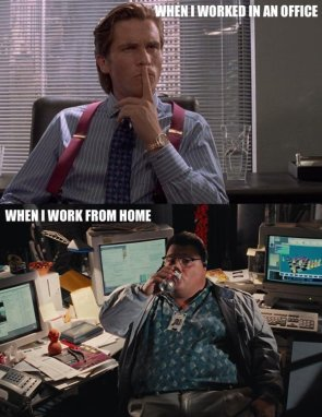 working in office vs home