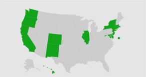 Map These are the states that have agreed to a plan to replace the Electoral College