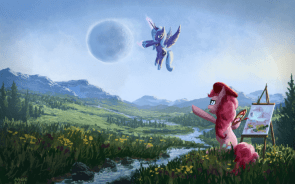 pinkie paints luna