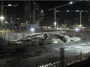 the millenium falcon in dry dock