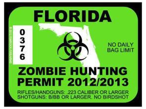 Florida Zombie Hunting Permit