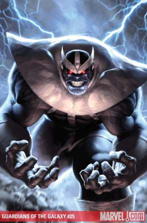 Thanos's sneering lip curl