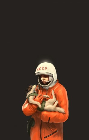 Cosmonaut with Dog