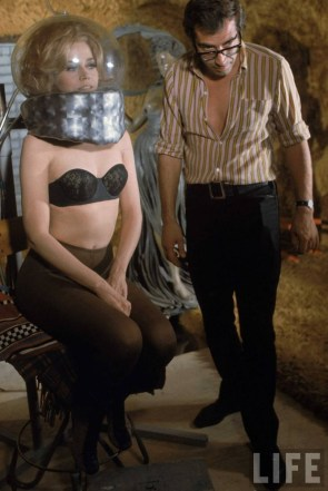Jane Fonda on the set of 'Barbarella' (1968)