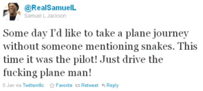 Samuel Jackson on a plane
