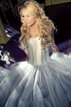 fluffy white dress