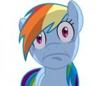 rainbow dash does a face
