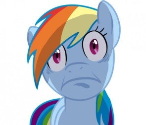 rainbow dash does a face