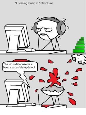 High volume and headphones