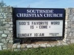 Odd church sign