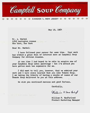 Campbell's Letter to Warhol