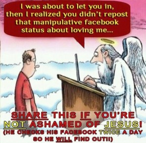 jesus checks facebook