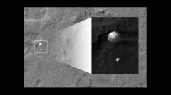 satellite takes photo of curiosity
