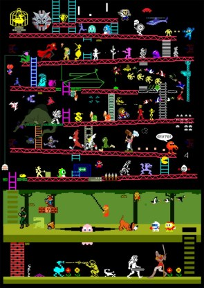 A mashup of over 50 games from the 80s from a variety of systems