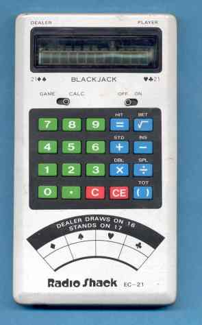 Radio Shack calculator/blackjack player