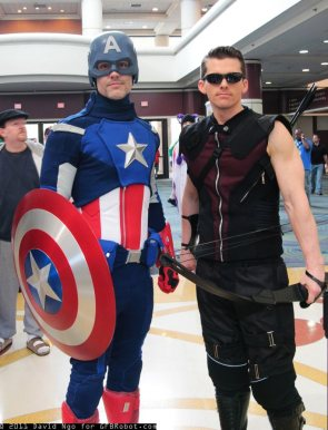 Cap & Hawkeye Cosplay