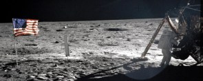 Panoramic shoot of moon landing