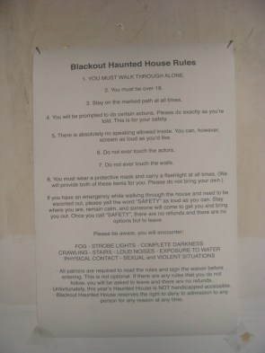 The haunted house other haunted houses are afraid of – Blackout Haunted House Rules